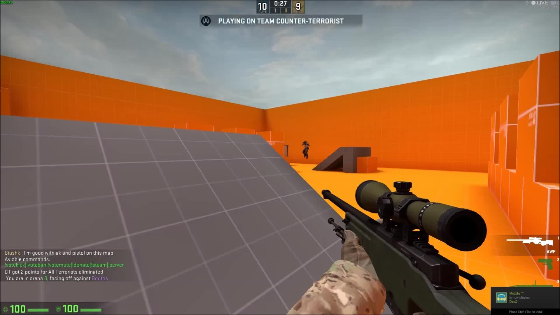 60fpsgaminggifs, [CSGO] Headshot Gameplay from an Aim Map (reddit) GIFs
