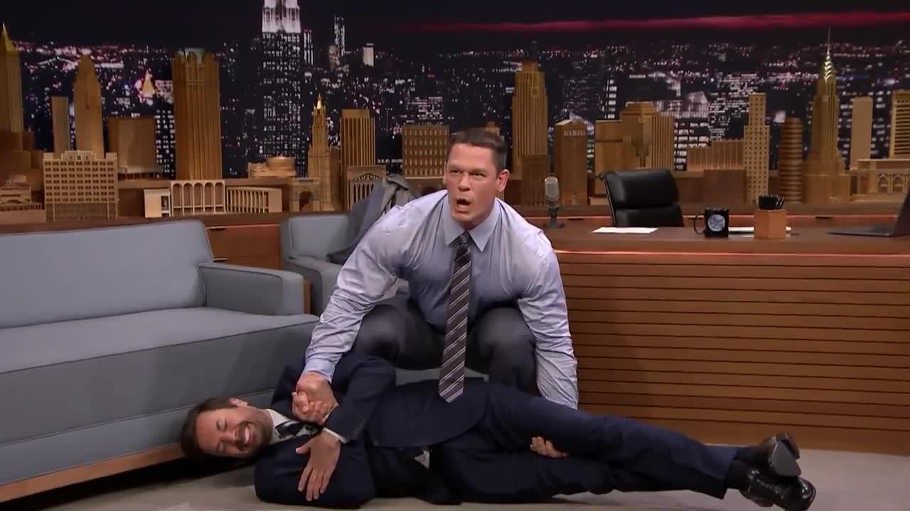 GIF Brewery, gif brewery, john cena, this is awkward, John Cena deadlifts jimmy fallon GIFs