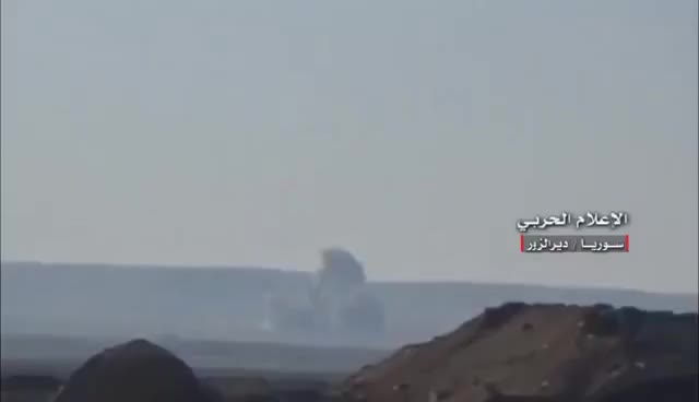 Watch Syrian airstrikes target IS jihadists positions in & around Thardah mountain - Deir Ez-zour city GIF on Gfycat. Discover more related GIFs on Gfycat