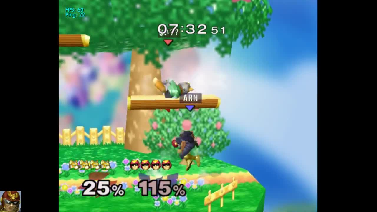 smashgifs, if i had a nickle every time someone didn't know they get their jump back when falcon up-b's them GIFs