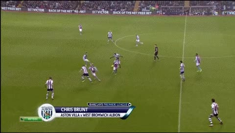 Watch Chris Brunt. Aston Villa - West Brom. 2013-14 GIF by @fatalali on Gfycat. Discover more related GIFs on Gfycat