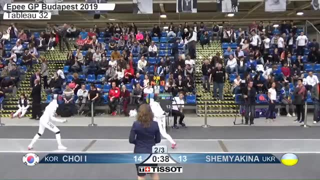 Watch CHOI I 15 GIF by Scott Dubinsky (@fencingdatabase) on Gfycat. Discover more gender:, leftname: CHOI I, leftscore: 15, rightname: SHEMYAKINA, rightscore: 14, time: 00015634, touch: double, tournament: budapest2019, weapon: epee GIFs on Gfycat