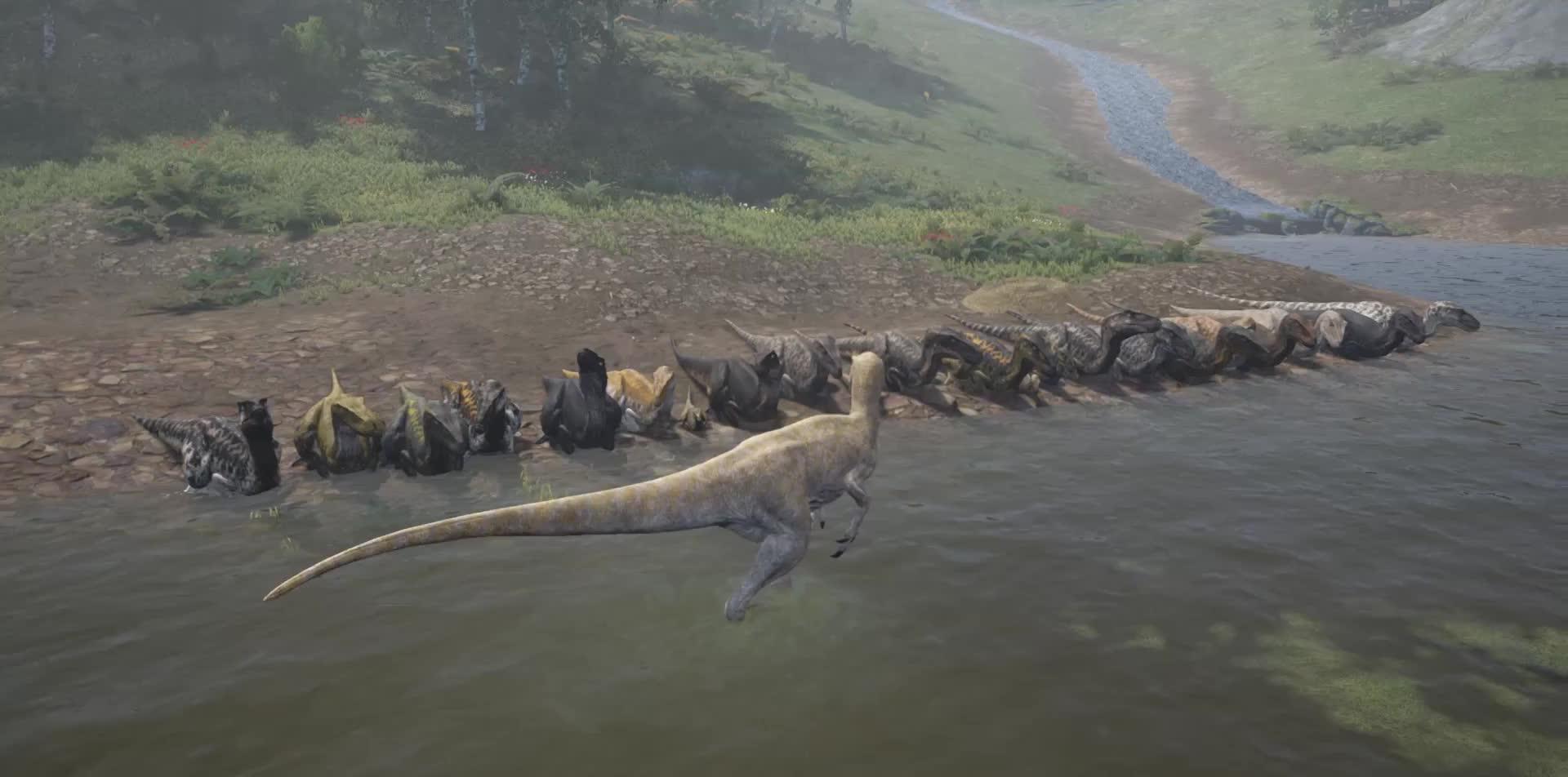 Dinosaur, Game, Survival, The Isle, Fabulous Raptors GIFs
