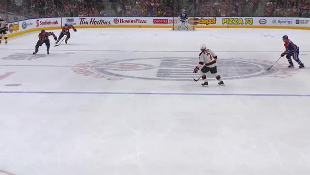 Watch and share Draisaitl And McDavid Score GIFs by cultofhockey on Gfycat