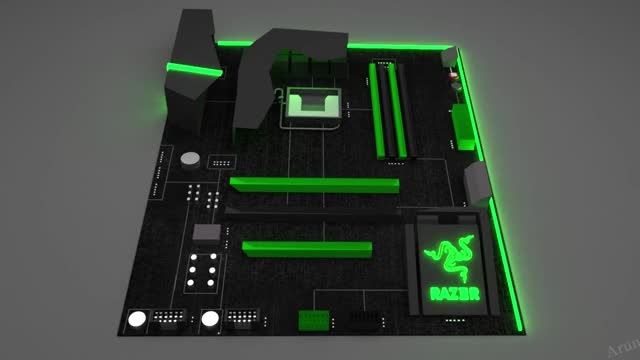 Watch and share The Razer Chroma MotherBoard GIFs by Arun Bharathi on Gfycat