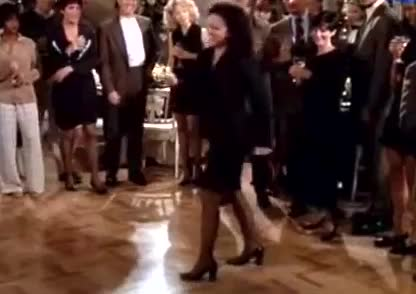 cosmo kramer, dance, elaine, elaine benes, funny, george costanza, jason alexander, jerry seinfeld, julia louis-dreyfus, kramer, michael richards, seinfeld, the kicks, Seinfeld - The Elaine Dance GIFs