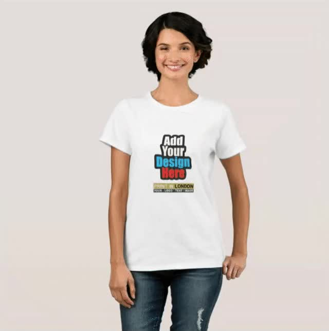 Watch and share Personalised White Colour Women's T Shirt Printing London- Printing London GIFs on Gfycat