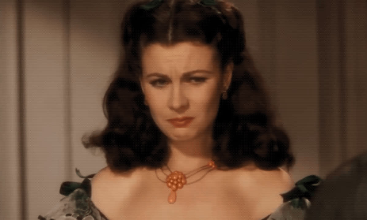 Scarlett O'Hara, Vivienne Leigh, brat, crying, gone with the wind, spoiled, tantrum, the worst, Scarlett O'Hara Tantrum GIFs