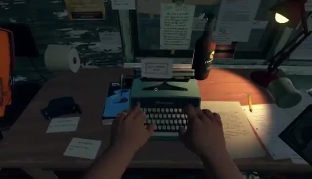 Typewriter in Firewatch GIFs