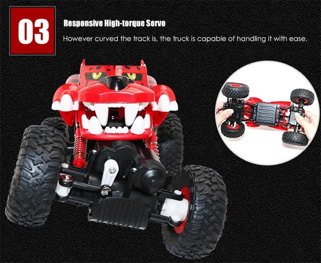 Watch G03052R 1:18 RC Climbing Truck RTR 2.4GHz 4WD with Dual Motors All-terrain Tires for Off-road Running GIF on Gfycat. Discover more related GIFs on Gfycat