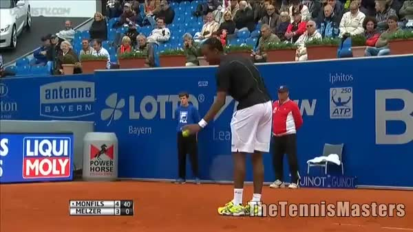 Watch and share Monfils Melzer Retour Amorti GIFs on Gfycat