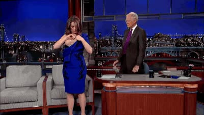 Watch and share David Letterman GIFs and Tina Fey GIFs on Gfycat