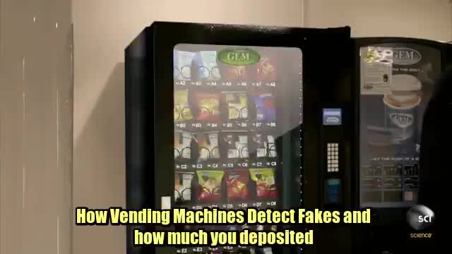 How vending machines can detect whether or not you're using a fake coin GIFs