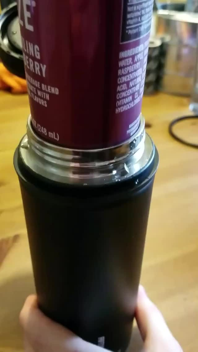 Watch The way the can slides into the thermos GIF by @inovaion on Gfycat. Discover more oddlysatisfying GIFs on Gfycat