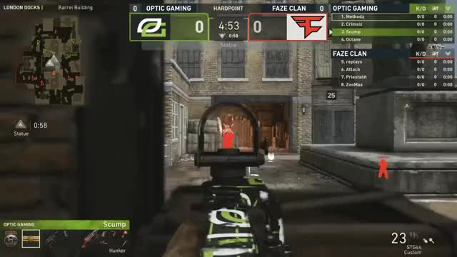 Watch OpTic Gaming vs. FaZe Clan | CWL Pro League Stage 2 Playoffs | Day 1 GIF on Gfycat. Discover more COD WW2, CODWWII, CWL, Call of Duty, Call of Duty World League, CoD, Gaming, League, MLG, MLG Pro League, Major League Gaming, Pro, faze clan, optic gaming, optic gaming vs faze clan GIFs on Gfycat
