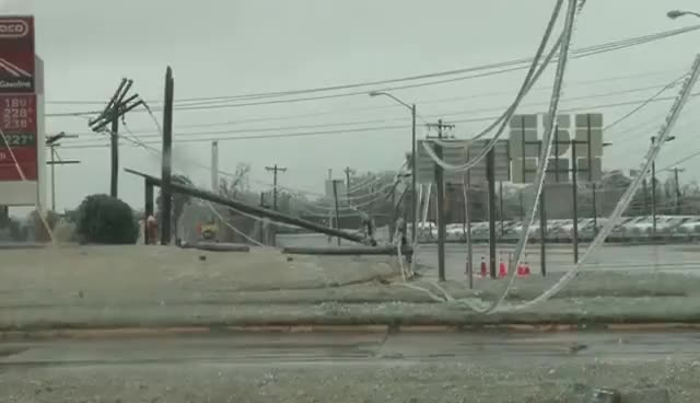 Watch and share Ice Covered Power Lines Falling!!  Oklahoma Ice Storm 11-28-15 GIFs on Gfycat