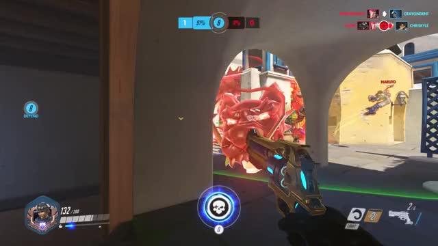 Watch Bang GIF by Treelo (@awesomenesstz) on Gfycat. Discover more Mccree, main tank aim, overwatch GIFs on Gfycat