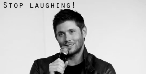 Jensen Ackles, stop laughing stop it GIFs