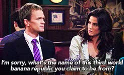 Watch and share Robin Scherbatsky GIFs and Barney Stinson GIFs on Gfycat
