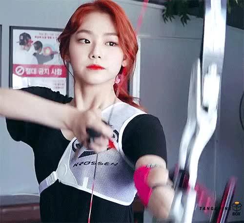 Watch and share 신궁 강미나 GIFs on Gfycat