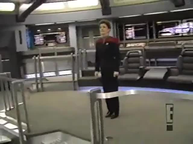 Watch and share Touring The Voyager Sets With Kate Mulgrew, Garrett Wang, And Robert Picardo [SD, 854x480] GIFs on Gfycat