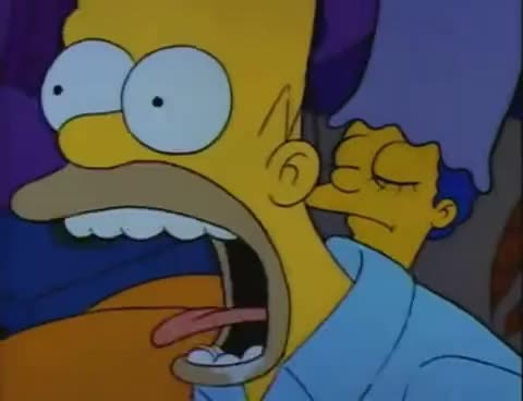 homer, marge, scream, simpson, simpsons, the simpsons, Homer's scream GIFs