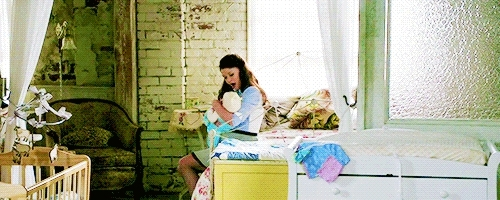 *, 3k, Emilie De Ravin, belle, belle french, bellefrenchedit, look at her I can't with this, my beautiful baby is holding a baby, omfg, ouat, ouat spoilers, ouatedit, ಥ_ಥ, ()*: Belle: *() GIFs
