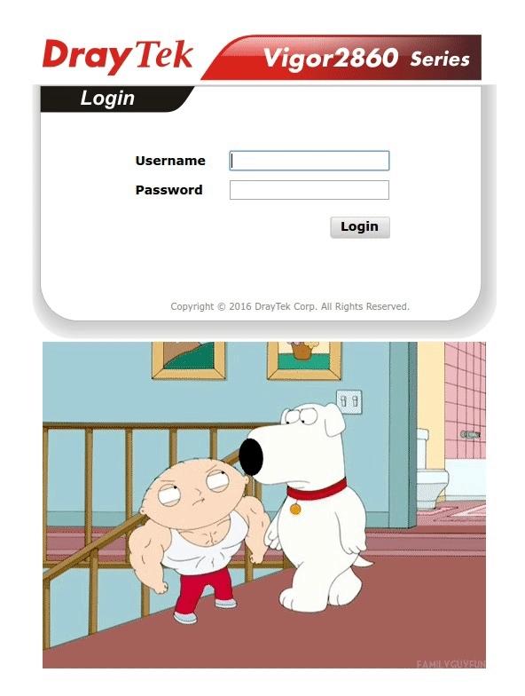 draytek, familyguy, iiiiiiitttttttttttt, When you can customize your router's login page GIFs