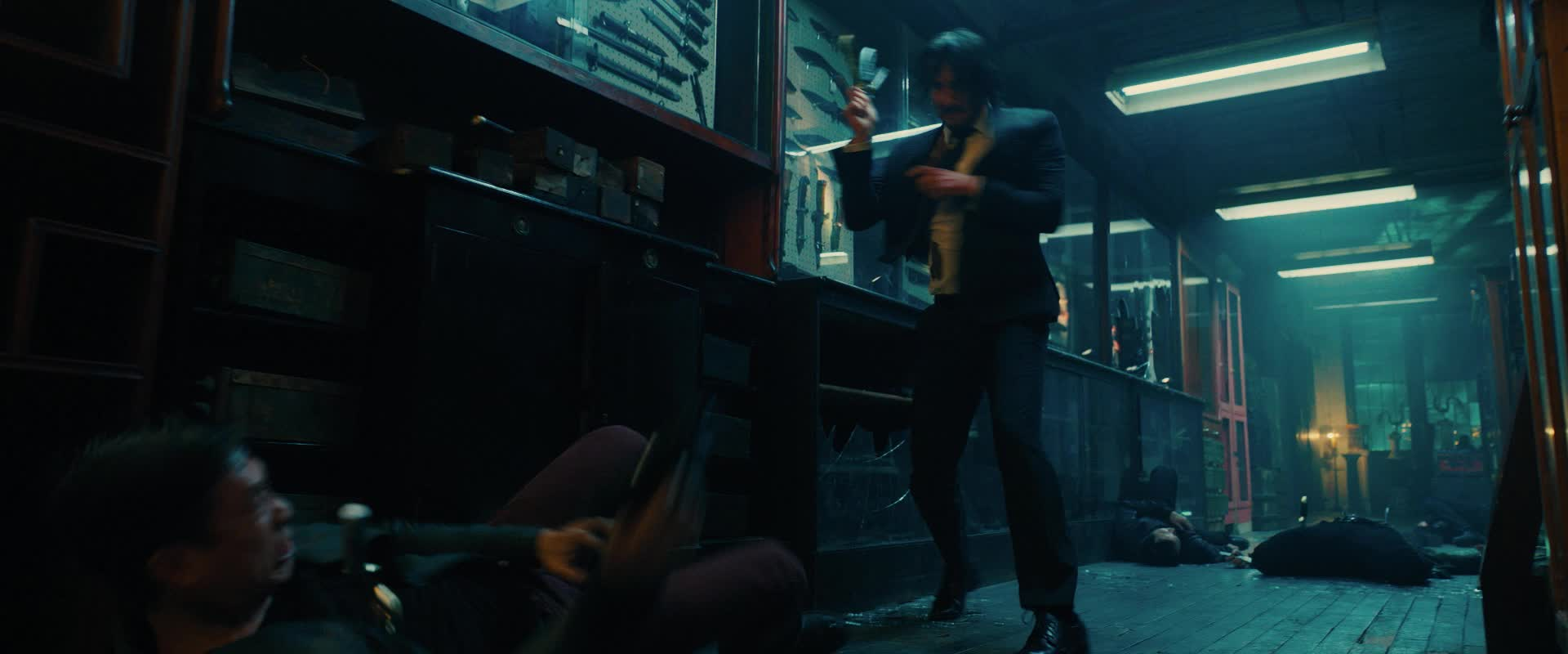 fight, gun, john wick, john wick 3, john wick chapter 3, john wick chapter 3 parabellum, keanu reeves, knife, John Wick Gun Knife Fight GIFs