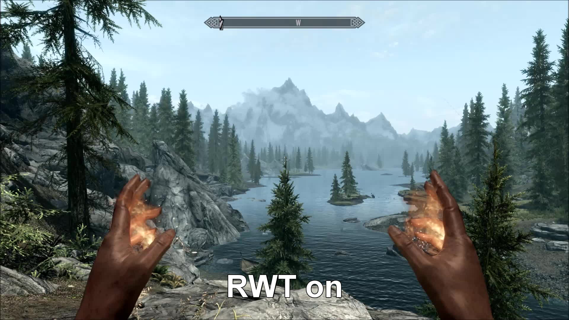 skyrimmods, Realistic Water Two causing *fire* flickering? I feel like I'm going crazy here! (reddit) GIFs