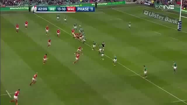rugbyunion, Keith Earls smashes Tom James GIFs