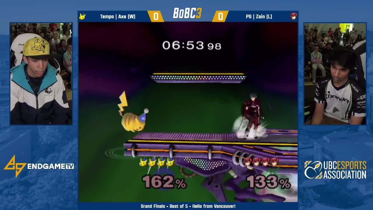 egtv, endgametv, gaming, nintendo, smash, smashgifs, splatoon, ssmb, Tempo Axe (Pikachu) vs PG Zain (Marth) | Grand Finals | Battle of BC 3 GIFs