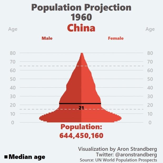 China, dataisbeautiful, China Population Projection GIFs