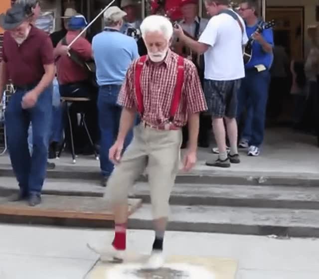 Watch this dance GIF by Reactions (@sannahparker) on Gfycat. Discover more cute, dance, happy, old man, unbothered GIFs on Gfycat