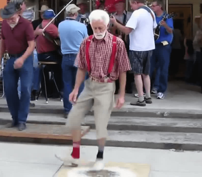 cute, dance, happy, old man, unbothered, Old Man Dancing GIFs