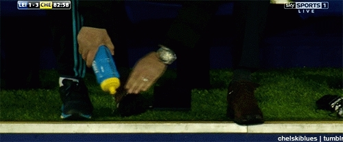 mourinhogifs, soccer, Mourinho watering his shoes (X-post /r/chelseafc) (reddit) GIFs