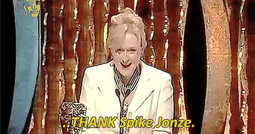 Watch and share Meryl Streep GIFs and Spike Jonze GIFs on Gfycat