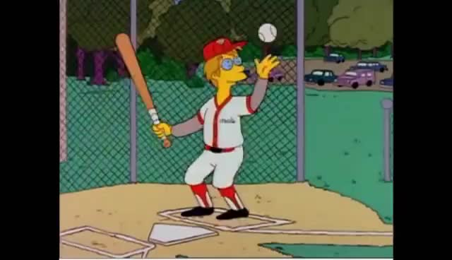 Watch this baseball GIF on Gfycat. Discover more baseball, simpsons GIFs on Gfycat