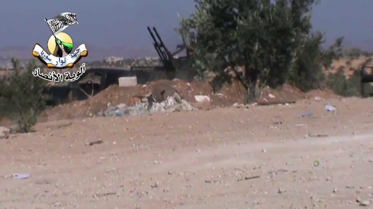 combatfootage, Close call for FSA anti-aircraft gunner GIFs