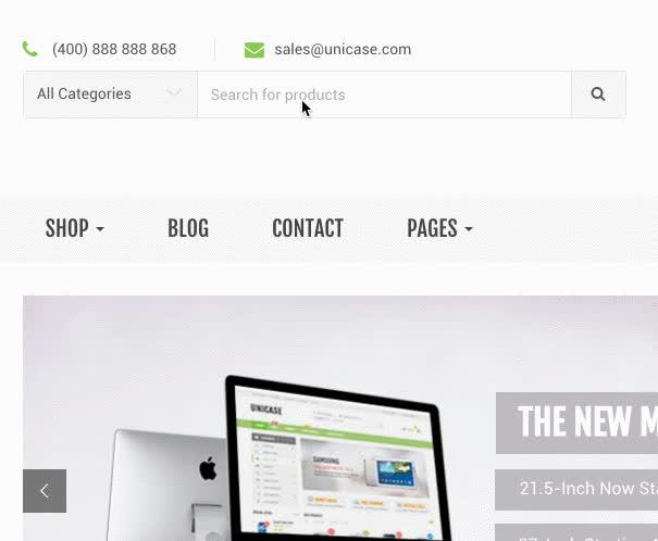 Unicase Electronics Store WooCommerce Theme GIFs