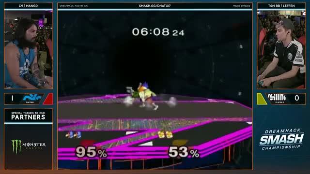 Mang0 gets a phantom laser but still nails the edgeguard