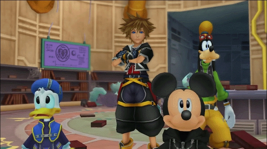 kingdomhearts, [KH2] Been playing through the entire series for the first time, and Sora's reaction here perfectly captured my own thoughts! (reddit) GIFs