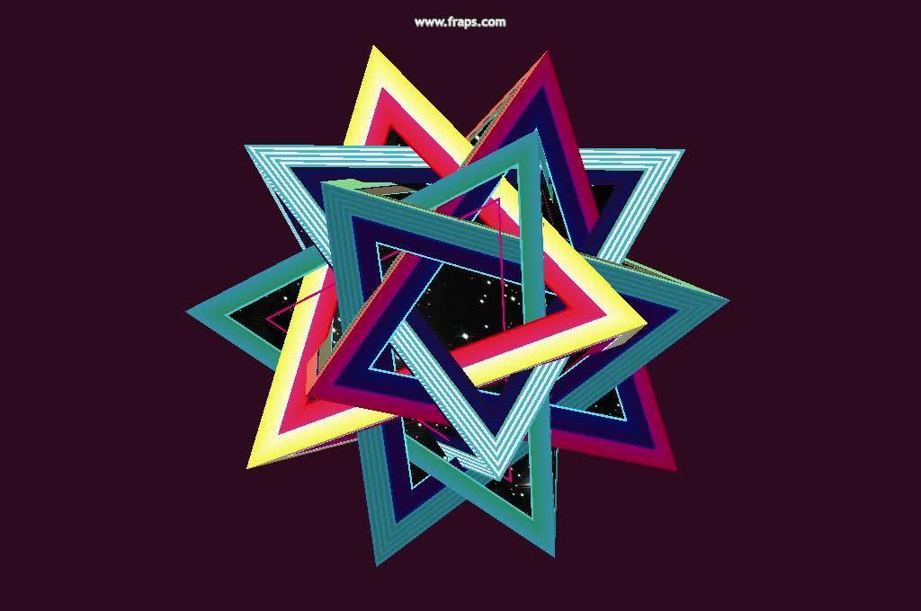 HandmadeCode, fanart, proceduralgeneration, Procedural Tetrahedron GIFs