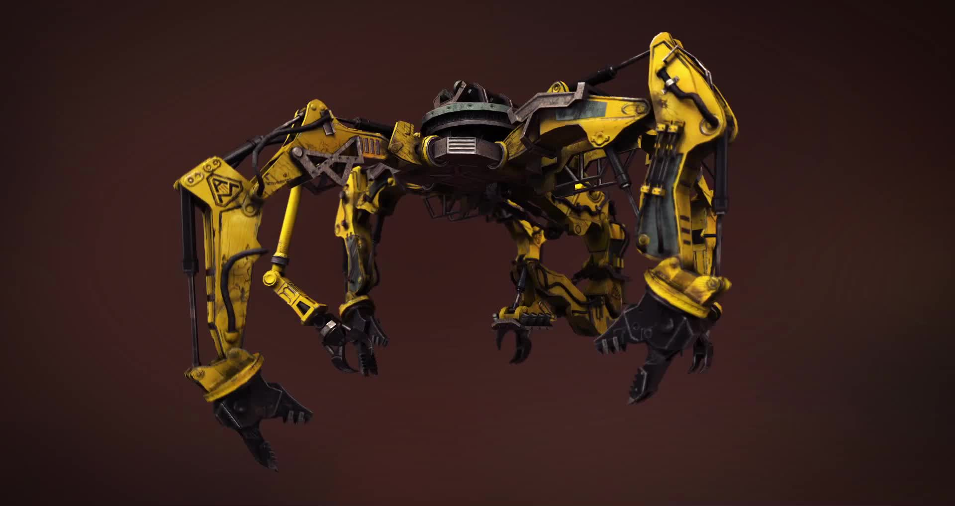 3Dmodeling, 3dmodeling, unity3d, Assembly Crane Turntable GIFs