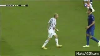 Watch and share Coup De Boule De Zidane Sur Italie-France Finale De La Coupe Du Monde 2006 GIFs on Gfycat