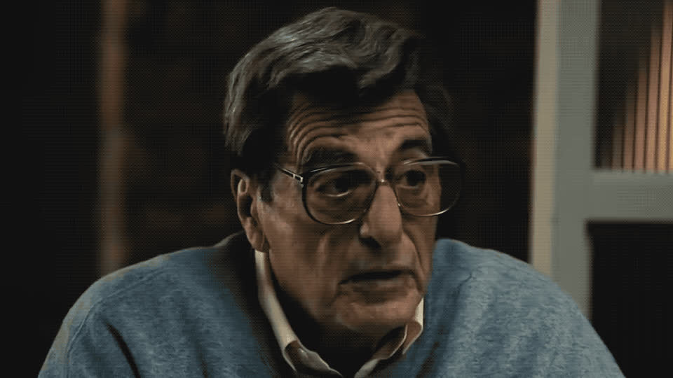 al, confused, confusion, glasses, grandpa, hbo, hmm, idea, no, no idea, pacino, paterno, question, surprise, surprised, wait, what, when, where, who, Paterno trailer GIFs