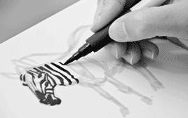 art, artistsontumblr, brushpen, columbuszoo, drawing, zebra, Action Shot! Many thanks to Rachel Maynard! She compiled thi GIFs