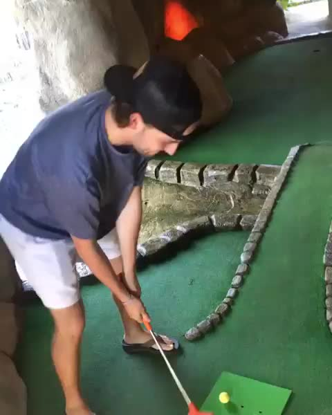 funny, golf, Happy Gilmore mini golf GIFs