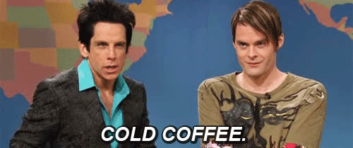 ben stiller, bill hader, blue steel, coffee,  GIFs