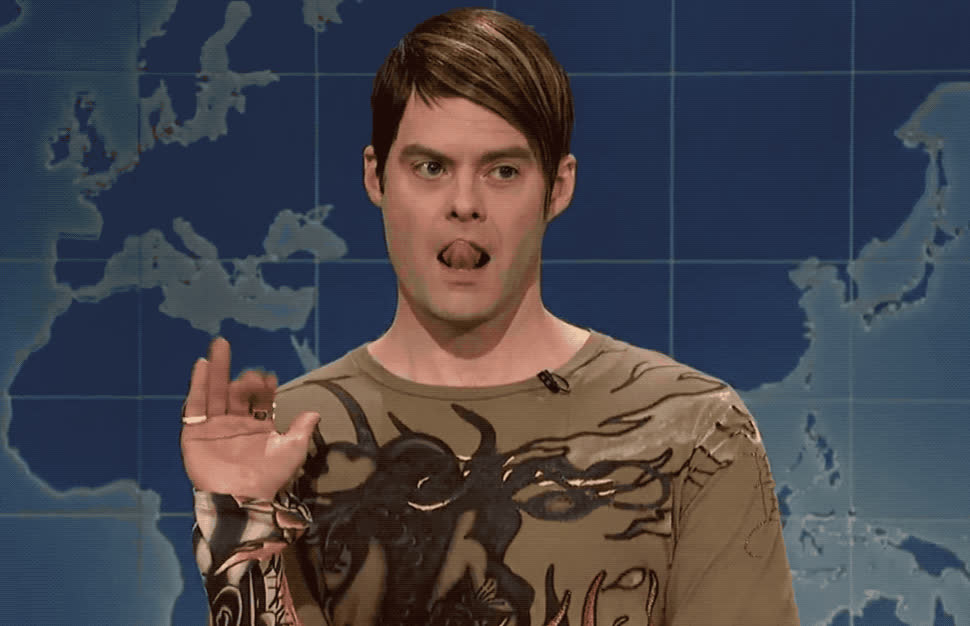adios, bill, bye, flirt, goodbye, hader, hello, hey, hi, hola, later, live, lol, night, saturday, sexy, snl, stefon, update, weekend, SNL Weekend update - Stefon on St Patrick's day GIFs